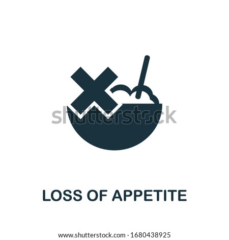Loss Of Appetite icon. Simple illustration from coronavirus collection. Creative Loss Of Appetite icon for web design, templates, infographics and more Stock photo ©