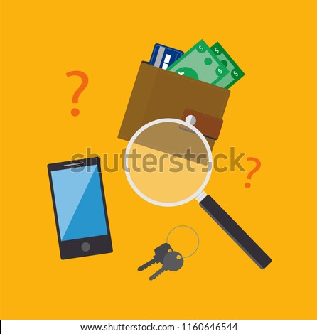 lost and found vector