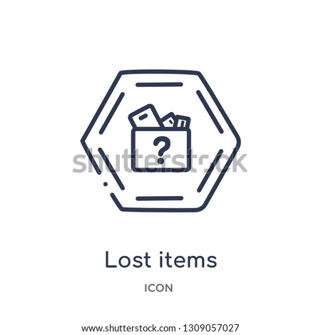 lost items icon from signs