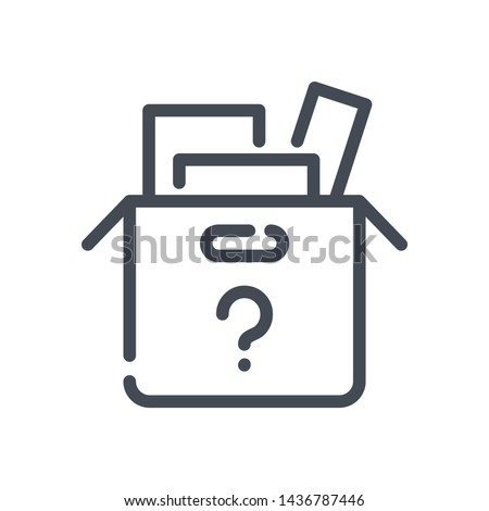 Lost items line vector icon. unidentified items outline isolated icon.