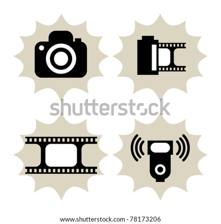 lot of photography icon  vector