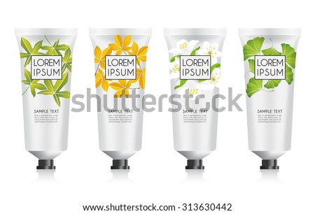 Lotion Packaging Template : Vector Illustration