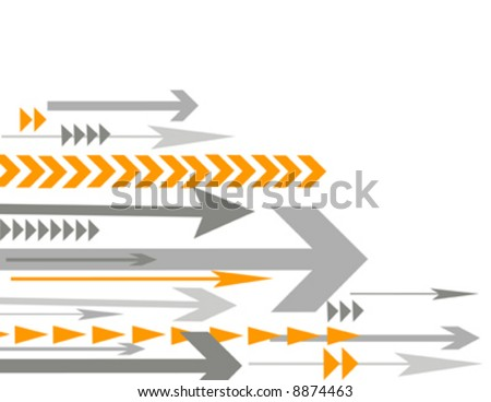 lots of arrows vector illustration