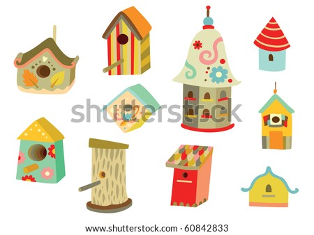 Lots of cute houses for birds with different shapes and for Different shapes of houses