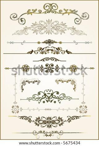 lots of design floral vector frame elements