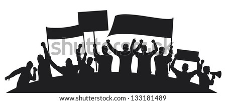lots of furious people protesting (a group of people protesting, protest, man holding flag, man holding transparent, demonstrator, protest man, demonstrations, protest, demonstrator, hooligan, fan)