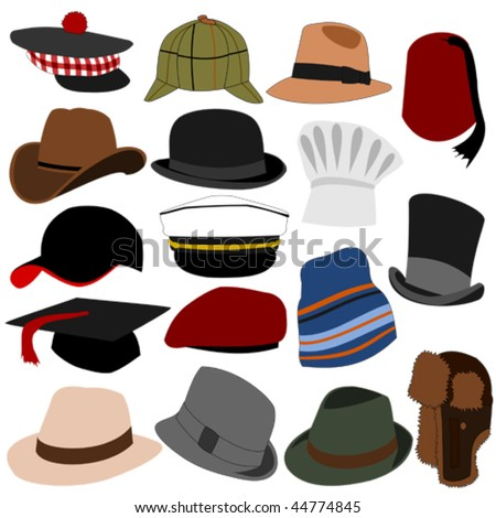 lots of mens hats set 01