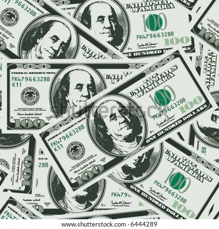 lots of real money background - one hundred dollars - seamless vector wallpaper