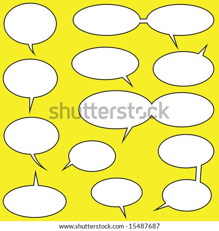lots of speech bubbles for your comics
