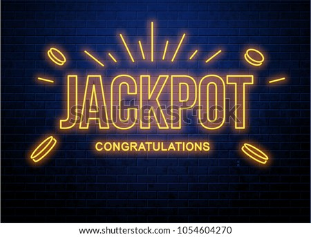 lottery neon background brick