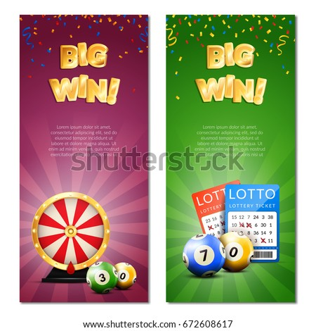 lottery vertical banners set
