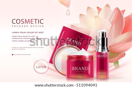 lotus cosmetic ads template  3d