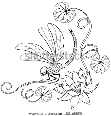 Royalty Free Stock Photos And Images Lotus Flower Curly Frame