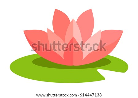 lotus flower isolated in flat