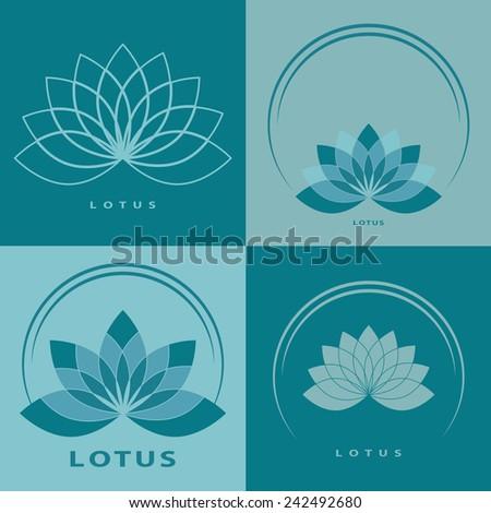 lotus flower logo pack four