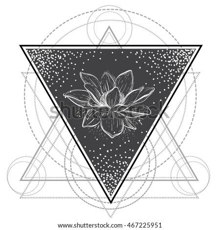 lotus flower  sacred geometry