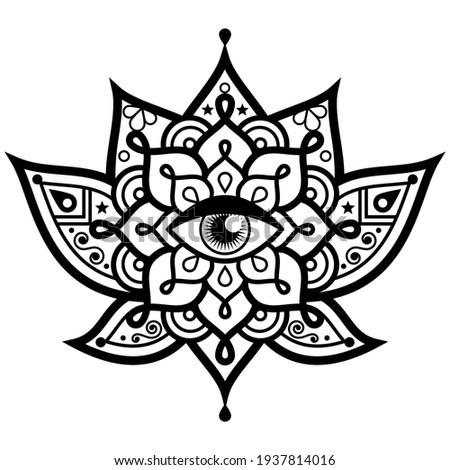 lotus flower with evil eye