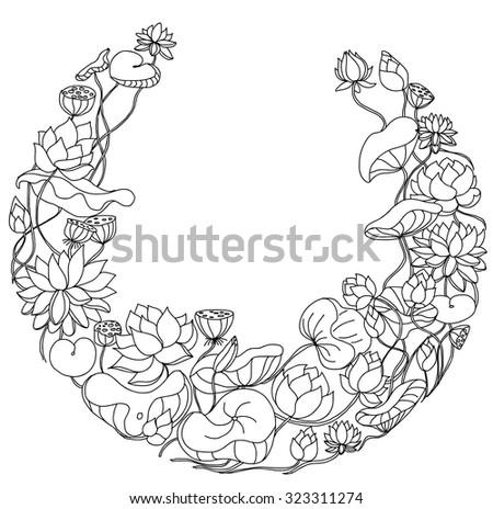 lotus in circle shape