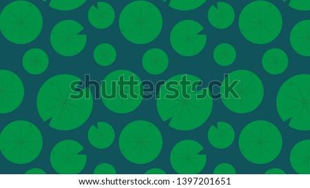 lotus leaf pattern vector