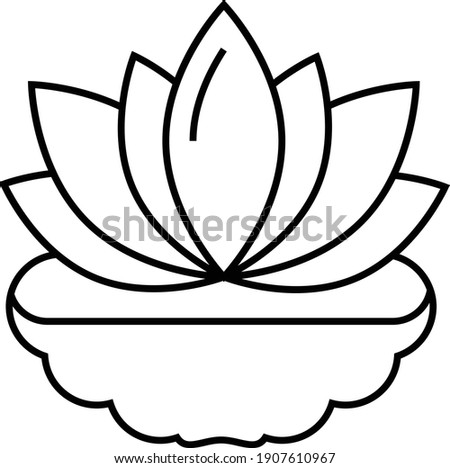 lotus with root concept vector