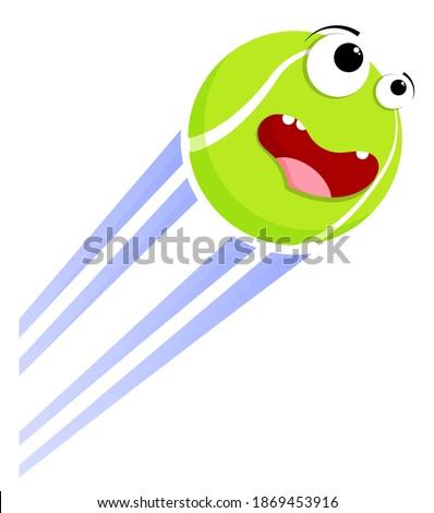 loud funny crazy tennis ball