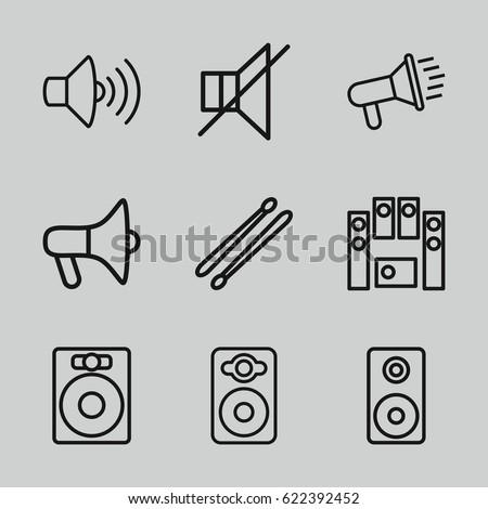 loud icons set set of 9 loud