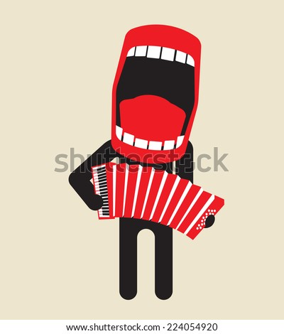 loud singing accordion player