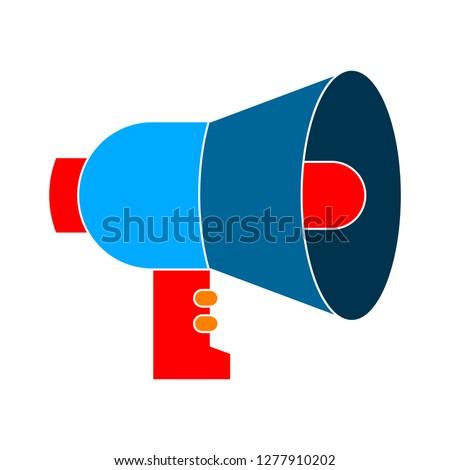 loudspeaker icon - loudspeaker isolate, announcement symbol illustration - Vector speaker