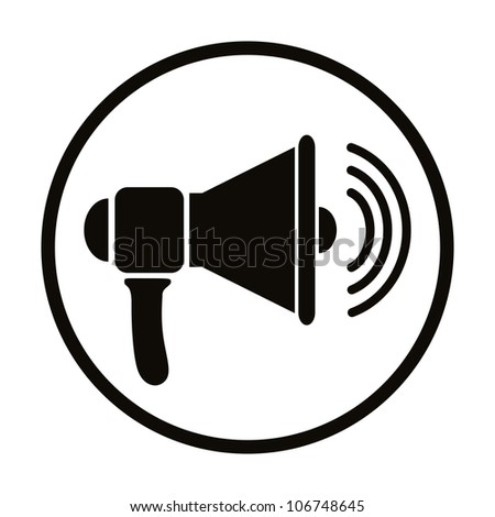 Loudspeaker icon, vector.