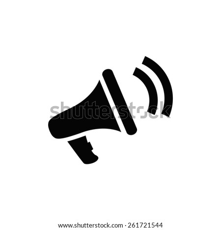 loudspeaker icon  vector  eps