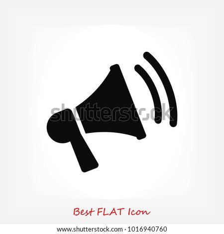 loudspeaker icon vector, stock vector illustration flat design style