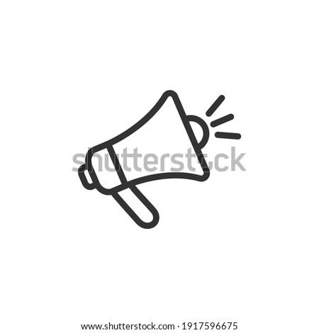 Loudspeaker line icon. Megaphone. Vector. Photo stock ©