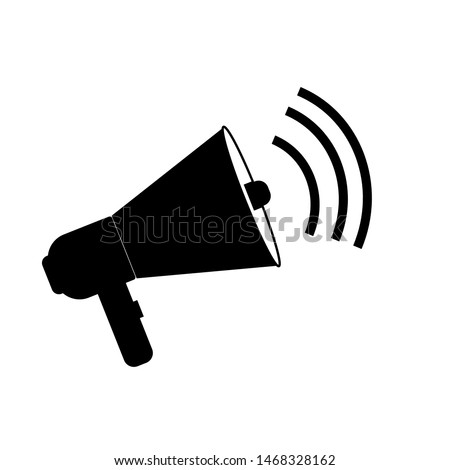 loudspeaker, megaphone icon vector, Announcement flat design symbol style  on white background. Can be used in web and mobile - vector illustration