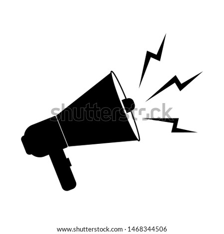 loudspeaker, megaphone icon vector, Announcement flat design symbol style  on white background. Can be used in web and mobile - vector