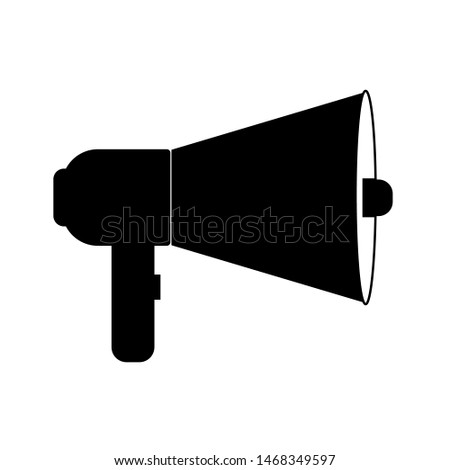 loudspeaker, megaphone icon vector, Announcement flat design symbol style  on white background. Can be used in web and mobile.