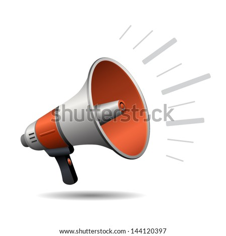Loudspeaker or megaphone icon isolated on white background. Vector