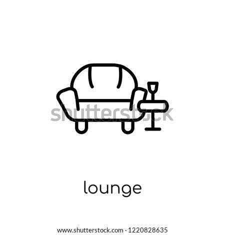 lounge icon. Trendy modern flat linear vector lounge icon on white background from thin line Hotel collection, outline vector illustration Сток-фото ©