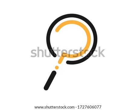Loupe icon with question mark inside. Magnifying glass symbol. Isolated zoom icon to find or search. Help or ask logo. Instrument to research or look for something. Question mark in loupe. EPS 10.