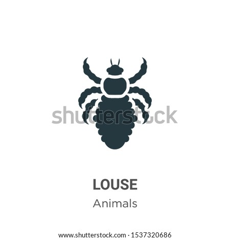 Louse vector icon on white background. Flat vector louse icon symbol sign from modern animals collection for mobile concept and web apps design.