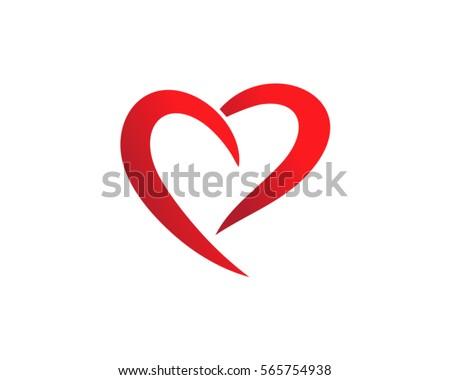 love abstract heart logo 10