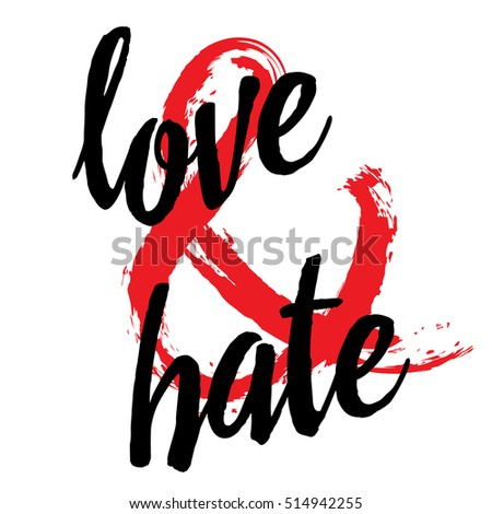 love and hate ampersand
