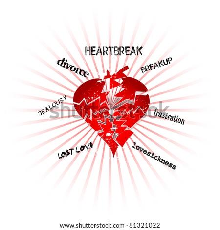 love and heartbreak concept, vector format
