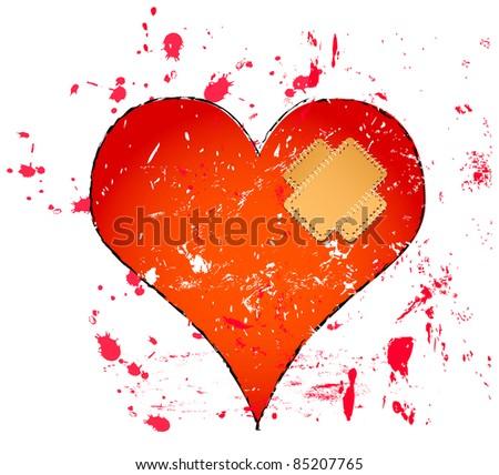 Love and heartbreak symbol, love concept
