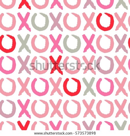 love and kiss seamless pattern