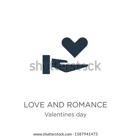 Love and romance icon vector. Trendy flat love and romance icon from valentines day collection isolated on white background. Vector illustration can be used for web and mobile graphic design, logo,