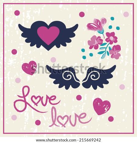 love angel wings   roses