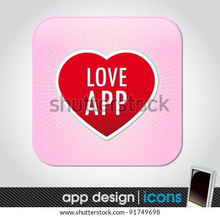 love app icon for mobile devices