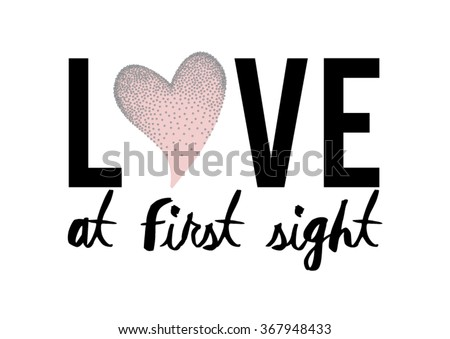 Love at first sight graphic in vector