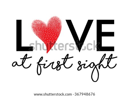 love at first sight graphic in