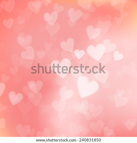 love background hearts white